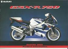 SUZUKI GSX-R750 MOTORBIKE SALES BROCHURE 2000 (PUNCH HOLES)