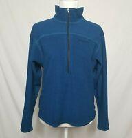 VTG Marmot Womens M Fleece 1/2 Zip Pullover Jacket Long Sleeve Blue