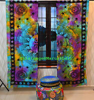 Wholesale lot of 3 Set Burning Sun Hippie Tapestry Door Decor Window Curtains