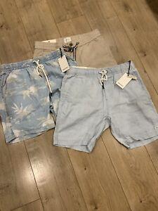 3 X Mens Industrie Shorts Size M L BNWT