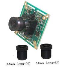 "Sunvision 480TVL 1/3"" Sony CCTV Board Camera + 3.6 & 6.0 mm M12 Lenses (BS48B)"
