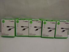 5x BELKIN-Android/Samsung BLK 4FT BLK MICRO USB TO USB CHARGE/SYNC CABLE