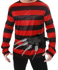 Freddy Freddie Burnt Man Halloween Fancy Dress Outfit Costume Jumper Glove