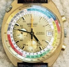 Serviced Vintage 1970 WAKMANN by Breitling Regate Automatic Yachting Chronograph