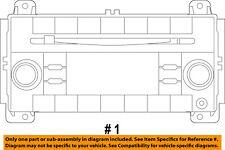 Jeep CHRYSLER OEM Grand Cherokee-Stereo Audio Radio Dash Head Unit 5091733AC