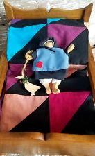 Antique Oak Shaker Mission Bed Cradle Amish Quilt,VTG Wood Doll Mattress Pillow