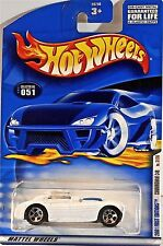 Hot Wheels 051 Cunningham Car, 2001 First Editions 31/36, White Blue Strips Mint