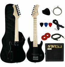 YMC EG305WBK 30 inch Kids Electric Guitar with Accessory Kit - Black