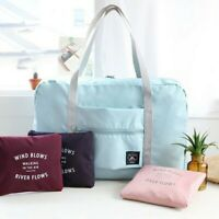 Women Foldable Travel Hand Bag Daypack Duffle Pack Shoulder Bag Luggage Airplane