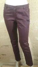 BURTON OF LONDON Taille 42 Superbe pantalon jeans jean denim bordeaux femme