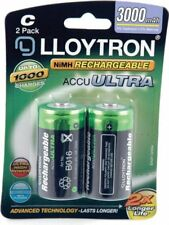 C Rechargeable Battery - 3000mAh 2 Pack - Lloytron NIMH AccuUltra (B016)