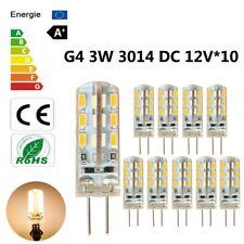 10 x G4 LED 3W 24*3014SMD Warm White Light Bulb Halogen 220LM 360°Beam DC 12V