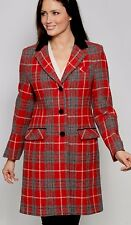 Harris Tweed Hand Woven Ladies 7/8th Country Coat Size 18 Or 20