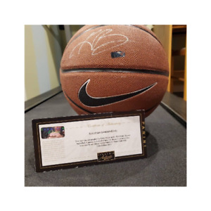 RARE KOBE BRYANT INITIAL AUTOGRAPHED BASKETBALL WITH PANINI AUTHENTIC COA