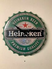 New Large Man Cave Wall Clock Heineken Design Vintage Retro Gift Fathers Day
