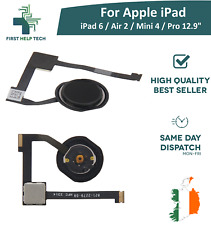 For iPad 6 / Air 2 / Mini 4 / Pro 12.9 Home Button Touch ID Flex Cable Black New