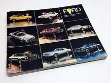 1978 Ford LTD Thunderbird LTD II Granada Fairmont Mustang Pinto Fiesta Brochure