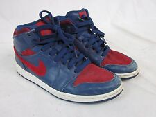 Nike Air Jordan I 1 Retro Phat Premier Blue/Red Detroit Pistons 375173-461 SZ 10