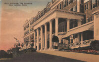 Main Entrance, The Griswold, New London, CT, Early Hand Colored Postcard, Unused
