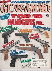 Magazine GUNS & AMMO December 1990 ! COLT Double Eagles 10mm & Officer's Model !