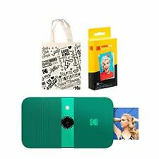 KODAK Smile Instant Print Digital Camera (Green) Tote Bag Kit