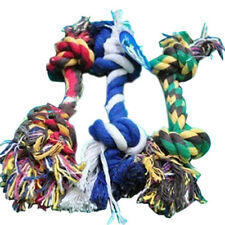 20cm Soft Dog Puppy Pet Cotton Braided Bone Rope Chew Knot Toy Durable Game UK