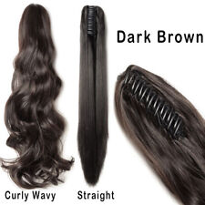 Clip In Hair Extensions Jaw Claw On Pony Tail Real As Human Hair Curly Wavy NEW