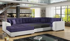 Bettfunktion Sofa Couch Ecksofa Eckcouch Polster Wohnlandschaft Textil Big XXL