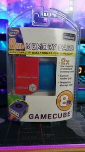 🔥BRAND NEW & SEALED RED Nyko Memory Card + Case FREE Decal for Gamecube