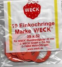 10 WECK Einkochringe RR40 (Ringe, Gummiringe) - 39x52