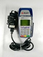 Used VeriFone Omni 3750 Credit Card Terminal Reader With Card Insert Power Cord