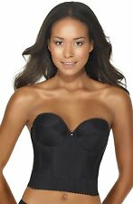 Dominique Noemi Backless Longline bra, Black 32A-44DD, low back strapless,