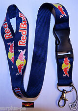 Red Bull   Lanyard ID Holder Keychain Cell Phone Detachable BMX WAKE Sport Surf