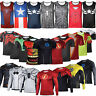 Men Superhero T-shirt Compression Under Base Layer Running Cycling Vest Tank Top