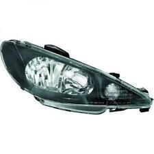 Scheinwerfer Set für Peugeot 206 1998-2006 Klarglas/Schwarz