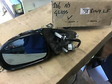 PEUGEOT 206 GTI  WING MIRROR ELECTRIC PASSENGER N/S 8149LF gloss  BLACK Temp sen