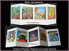 Mati Klarwein-Angel Series & St.John Pentych (9 paintings; 2 multi-panel prints)