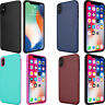 For Apple iPhone XS Max Shockproof Lines Hybrid Impact Dual Layered Phone Case