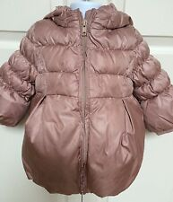 BABY GAP Pink Mauve Winter Puffer Jacket Toddler Girls Sz 12-18 Mths