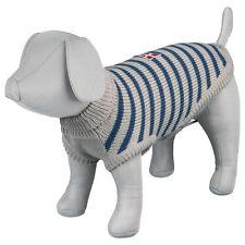 Jersey de perro Trixie Milton 33 cm gris / azul - ropa para mascotas lana