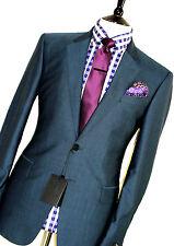 BNWT Homme Paul Smith Le Byard London granité vert sur mesure Costume 38R W34