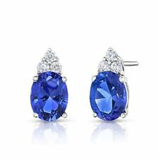 Butterfly Fastening Topaz Stud Fine Earrings