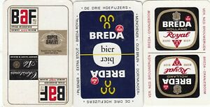 ALCOHOL ADS -  3    - single vintage swap playing cards