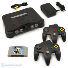 N64 / Nintendo 64 - Konsole + Bomberman + 2 Controller + Zub.