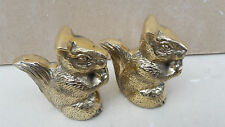 SOLID BRASS SQUIRREL PAIR (2 ITEMS), ORNAMENTS 67515
