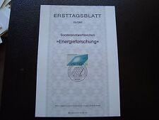 ALLEMAGNE - document 1er jour 16/7/1981 (B5) germany