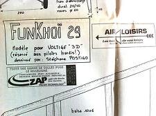 "6)Plan Avion Modèlisme ""Funkhoï 29"" Voltige 3D"