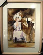 Australian Artist Veronica Robilliard's watercolour 'The Actress & The Director'