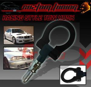 FOLDING FRONT REAR TOW HOOK KIT BLACK ANODIZED FOR BMW E36 E46 E39 E60 M3 M5