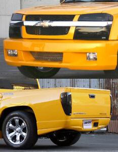 Fits 04-12 Colorado Canyon GTS Acrylic Smoke Headlight Taillight Covers 6pc Set